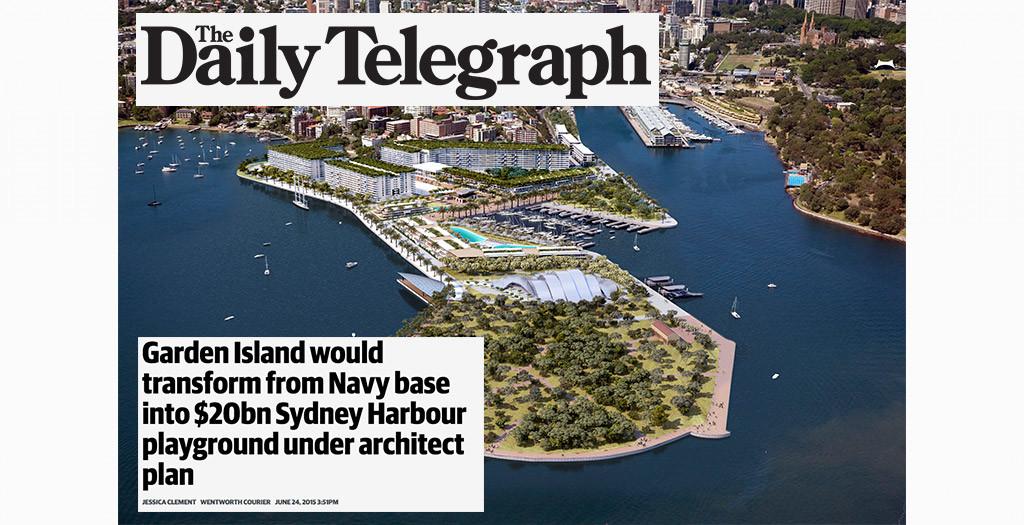 Daily Telegraph - Garden Island